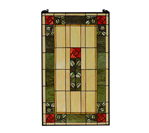 any Style stained glass window panel Rose ()