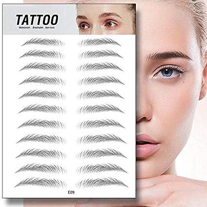 Magia 4D Cejas auténticas con forma de pelo Preparación de maquillaje Maquillaje Cejas Peinado Cejas Pegatinas Tatuaje Cejas falsas Aseo con forma de ...