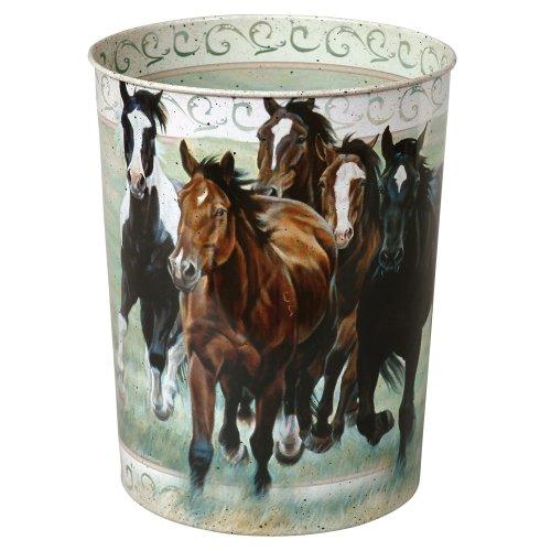 Decor Horse Running (Black Forest Decor Running Horses Western Waste Basket)