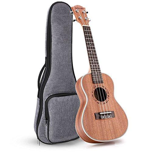 (Manao Ukulele Concert Ukelele 23 Inch Ukele Beginner Pro Wooden Ukalelee Instrument with Gig Bag)