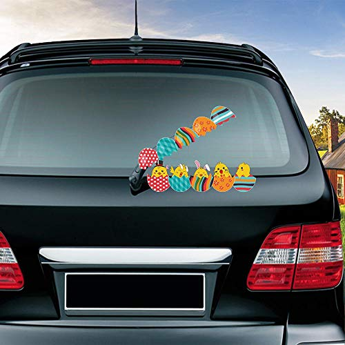 Funny Easter Chicks Hatched Waving Wiper Decals PVC Car Styling Rear Window Wiper Stickers Rear Windshield Stickers Car Stickers