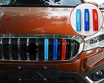 Für S Cross S Cross 2017 2018 2019 Exterieur Vordere Kühlergrill Dekor 3 Stück Abs Kunststoff Auto