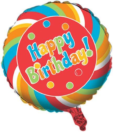 [Creative Converting Sugar Buzz Two Sided Mylar Foil Round Balloon] (Gumdrop Costume Ideas)