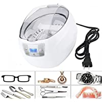 Ultrasonic Cleaner,Charminer 750ml Jewelry Cleaner With Digital Timer For Cleaning Eyeglasses, Watches,Dentures,Razors