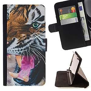 Momo Phone Case / Flip Funda de Cuero Case Cover - Aquarelle Violet - Samsung ALPHA G850