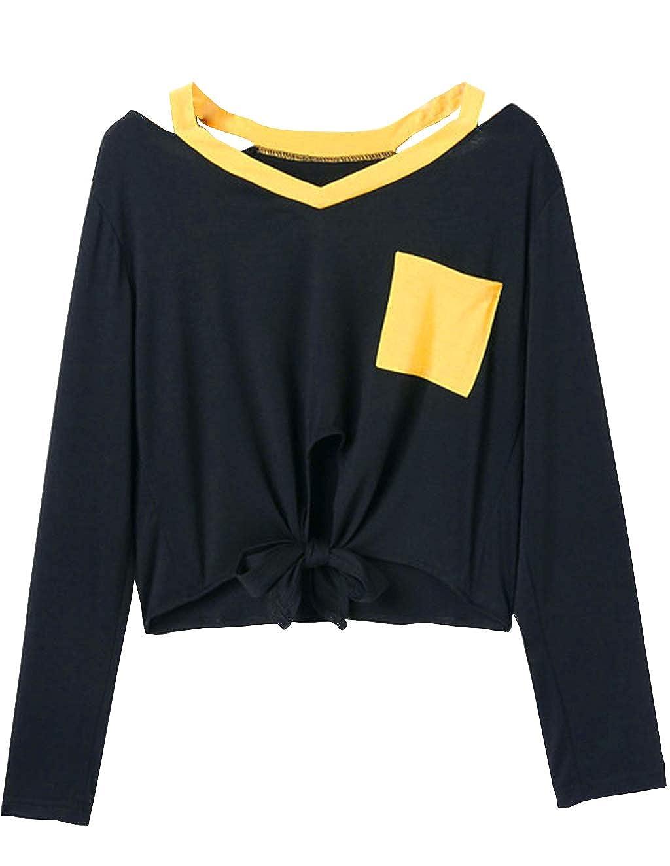 Damen Mädchen Lolita Shirt Tops Bubikragen Langarm Knöpfe Bluse Kawaii