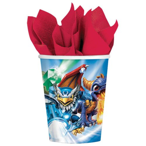 Skylanders Cups - Birthday and Theme Party Supplies - 8 Per Pack