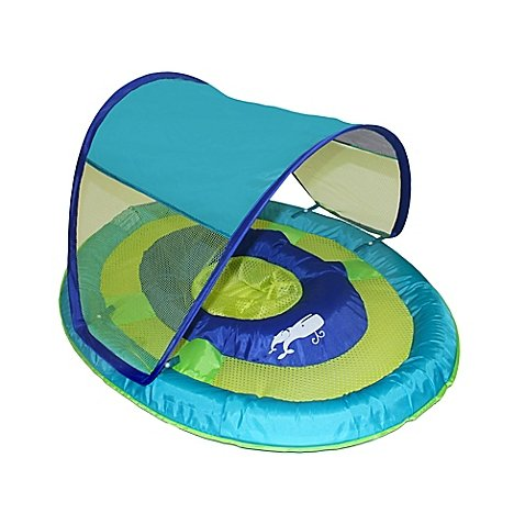 SwimWays Baby Spring Float Sun Canopy (Whale Baby Float)