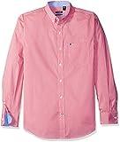IZOD Men's Advantage Performance Non Iron Stretch Long Sleeve Shirt, Rapture Rose, Small
