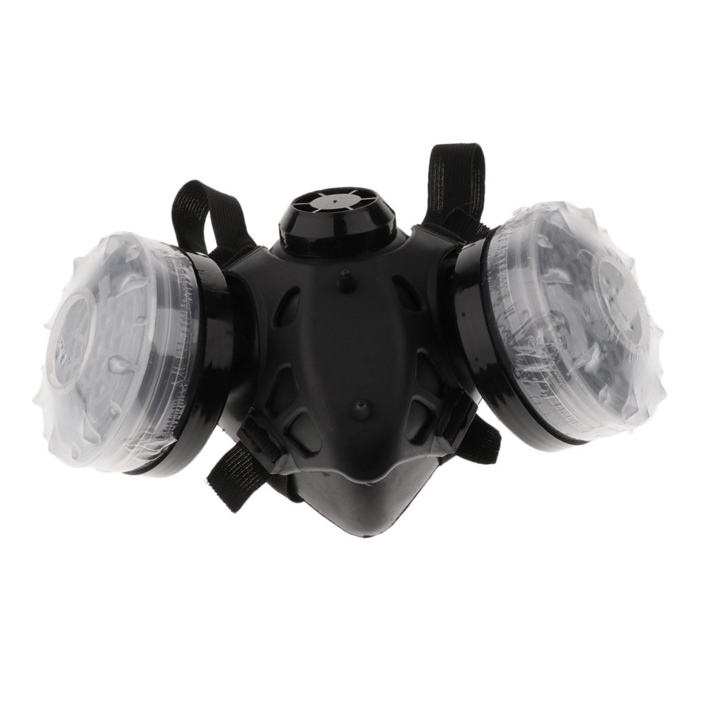 Jili Online Anti-Dust Dual Respirator Mask for Welder Welding Painting Activated Carbon Gas Mask Home Improvement