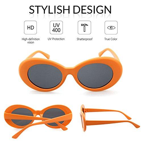 ADEWU Clout Soleil Goggles Ovales Orange Lunettes de rrwH7xFq