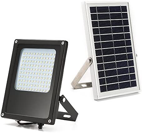 MYM Solar Flood Lights Outdoor 120 LEDs 6W Solar Panel IP65 Waterproof Solar Security Flood Light Solar Flood Lights Outdoor Motion Sensor Auto-on Off