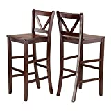 Luxury Home Victor 2-pc 29-inch V Back Bar Stools
