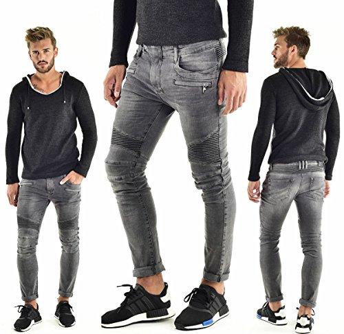 VSCT Clubwear Herren Jeans / Antifit Liam Biker grau W 32 L 34