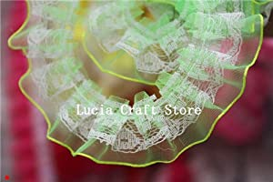 2 yards 2.5cm Lace Trim Handmade Patchwork Material Lace Ribbon DIY Sewing & Headwear Accessories (Fruit green)