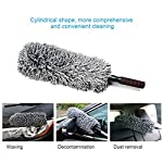 HOME CUBE Car Cleaning Microfiber Round Shaped Duster (Random Colour)