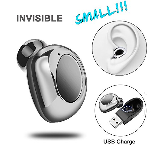 Wireless Invisible Mini V4.1 Bluetooth Headset,Shuua Wireless Car Earphone Earbud Headphone Support Hands-Free Calling for Driving,Motorbike,Motorcycle,Car,Office