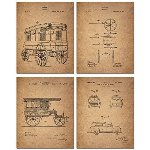 Ambulance Patent Art Prints Paramedic product image