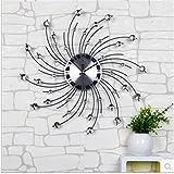 Creative quartz wall clock, Non Ticking Digital Quiet Sweep Decorative Clocks, Modern Large Wall Clock, 50 * 50cm