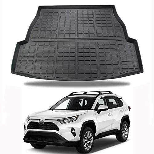 D-Lumina RAV4 Cargo Liner Compatible with Toyota RAV-4 2019 2020 2021-3D TPE Weathertech Rear Trunk Floor Mats, Waterproof All Weather Guard Protection Tray, Black