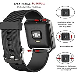 I-SMILE Colorful Silicone Classic Bracelet Strap Replacement Wristband with Watchband Buckle for Fitbit Blaze(No tracker, Replacement Bands Only)