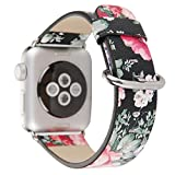 Kobwa 38mm/42mm Leather Replacement Watch Band Strap For Apple iWatch Sport Nike Edition Series 1/2 Watch Accessories