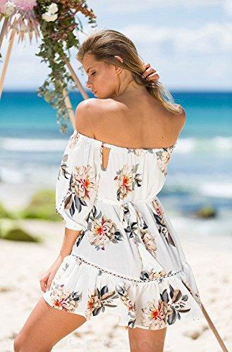 Women Fashion Summer AU Short Sleeve YingBo Girl XL Dress Sexy Strapless Cute Printed Beautiful qZEf5U
