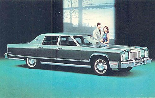 1976 Lincoln Continental Town Car ORIGINAL Factory Postcard
