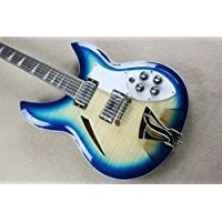 BEESCLOVER Custom red Back 360 semi Hollow Body 12 Strings Electric Guitar Guitar Blue 41 inches