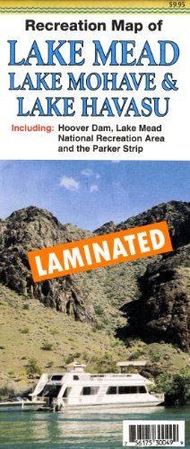 Recreation Map of Lake Mead * Lake Mohave & Lake Havasu Gloss Laminated (Lake Mead National Recreation Area Las Vegas)