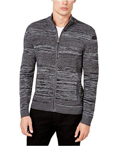 Alfani Mens Big & Tall Zip-Front Athletic Cardigan Sweater Gray XL from Alfani
