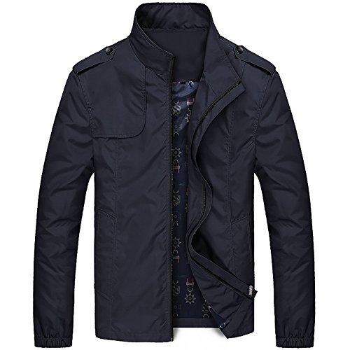 (Fancy Fly Mens Casual Fashion Jackets Coats Shoulder Straps (XXXL, Black))