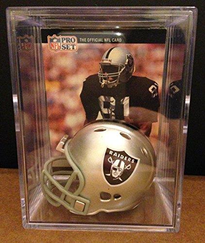 L.A. Raiders NFL Helmet Shadowbox w/ Tim Brown (Tim Brown Nfl)
