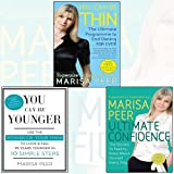 Marisa Peer 3 Books Bundle Collection (You Can Be Thin,Ultimate Confidence,You Can Be Younger)