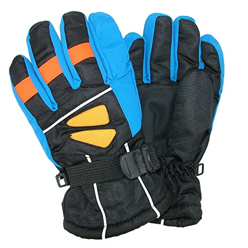 CTM Kids' 4-7 Multi Tone Ski Gloves, Blue ()
