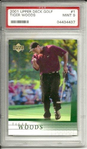 2001 upper deck tiger woods golf rookie graded psa 9 from Upper Deck
