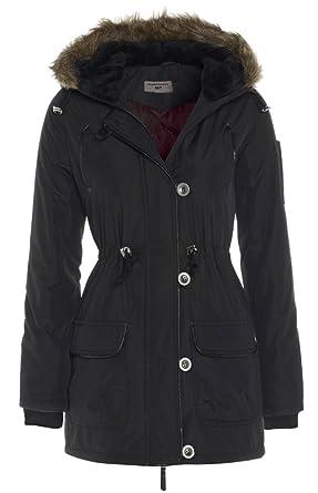 Parka Womens Hood Black Coat Sizes 8 - 16: Amazon.co.uk: Clothing
