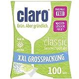 claro Classic XXL - 100 Phosphate-Free Eco-Friendly Dishwasher Tablets, Economy Pack