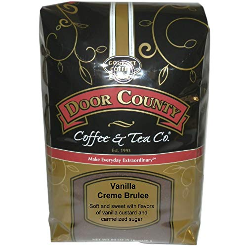 Door County Coffee, Vanilla Crème Brulee, Ground, 5lb Bag Brulee 5 Lb Bag