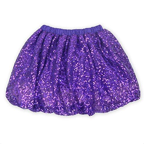 Coralup Little Girls Sparkle Sequins Ballet Tutu Skirts D7010(Purple,4-5Y)