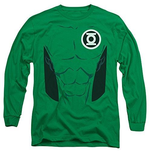 Green Lantern DC Comics Kyle Rayner Green Lantern Costume Adult L-Sleeve T-Shirt - Green Lantern Costume John Stewart