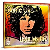 Great BIG Canvas Gallery-Wrapped Canvas Entitled Jim Morrison Light My Fire 1 20''x18''