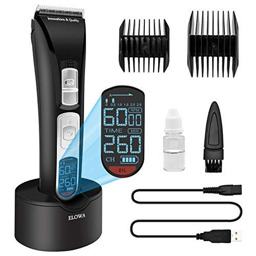 Professional Hair Clippers for Men,Barber Clippers Cordless Hair Trimmer Set with 5-Speed Ultra Quiet Rechargeable Hair Cutting Kit for Kids Home Travel Trimmer