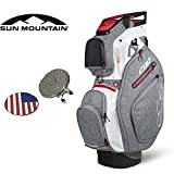 Sun Mountain Golf 2018 C130 C-130 Cart Bag 14 Way Comes with Custom Ball Marker Hat Clip Set PICK THE COLOR