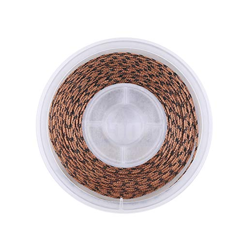 ANGRYFISH 20 Meters Lead Core Carp Fishing Line for Carp Rig Making Sinking Braided Line (CAMO Brown, 25#/60LB)