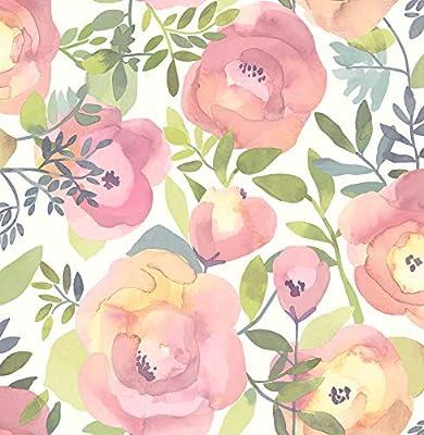 NuWallpaper NU3035 Peachy Keen Pink Peel & Stick Wallpaper,
