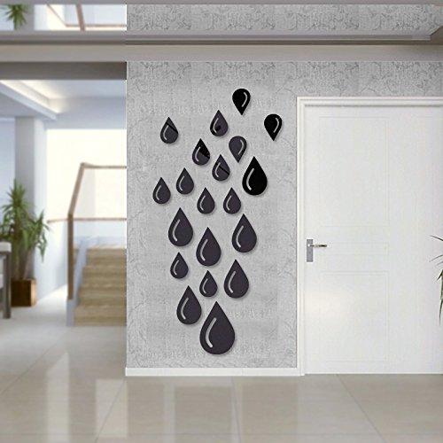 JY$ZB Pared pared DIY hechizo creativo espejo pegatinas 3D agua ...