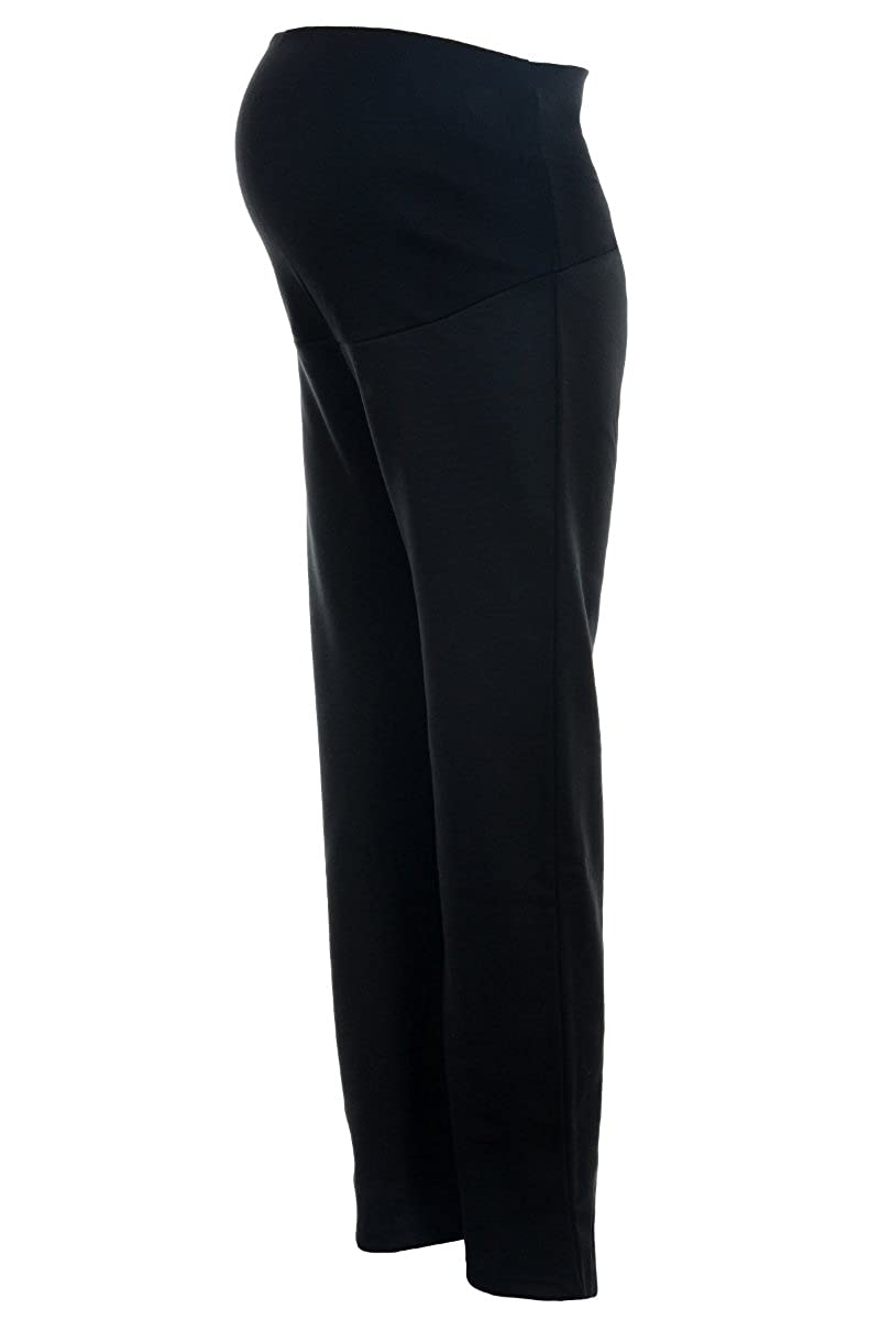 Over The Bump Soft Stretchy Ponte Roma Jersey Black Maternity Bootcut//Bootleg Trousers Regular 30
