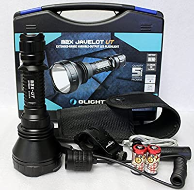 Olight M2X-UT Javelot 1020 Lumens CREE XM-L2 LED Flashlight 810m Long Throw Distance Search Light Weapon Kit, Includes LegionArms Off Set Mount and Pressure Remote Switch