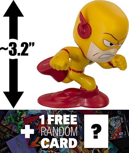 "Reverse Flash: ~3.2"" DC Comics Super Heroes x Funko Mystery Minis Vinyl Figure Series + 1 FREE Official DC Trading Card Bundle [RARE]"